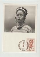 CPM  SOUDAN FRANCAIS/1952/ JEUNE FEMME DE DJENNE / / PUB. PHARMACEUTIQUE AU VERSO - Sudan