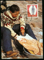 Mk Greenland Maximum Card 2000 MiNr 357 | Cultural Heritage. Sealskin - Maximum Cards