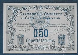 Chambres De Commerce CAEN Et HONFLEUR -  50 Centimes - Pirot N° 4 - Cámara De Comercio