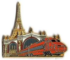 TGV SUD-EST - SE30 - GARE DU NORD - Verso : DORE A L'OR FIN / PIN'S BALLARD COLLECTION - TGV
