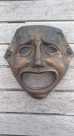 Masque De Théâtre En Bronze - Bronzi