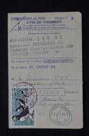 FRANCE - Macareux Sur Avis De Crédit Des Chèques Postaux De Marseille En 1960 - L 94419 - 1921-1960: Periodo Moderno