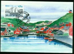 "Mk Greenland Maximum Card 2003 MiNr 407 | Ships. ""Emma"" (galleass) - Maximum Cards"