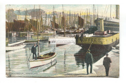 Douglas - Old Harbour, Boats - Old Isle Of Man Postcard - Isle Of Man