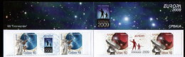 Serbia 2009 EUROPA Astronomy, Booklet B With 2 Sets And Labels In The Row, MNH - Serbia