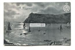 Bradda Head, Moonlight - 1905 Used Isle Of Man Postcard - Isle Of Man