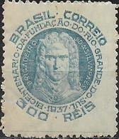 BRAZIL 1937 Bicentenary Of Founding Of Rio Grande Do Sul - 300r - J. Da Silva Paes MNH - Neufs