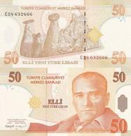 AC - TURKEY 8th EMISSION 50 YTL - TL  C UNCIRCULATED - Turkey
