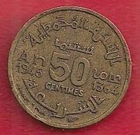 MAROC 50 CENTIMES - 1945 - Morocco