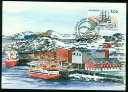 "Mk Greenland Maximum Card 2003 MiNr 409 | Ships. ""Godthaab"" (screw-propelled Barquentine) - Maximum Cards"