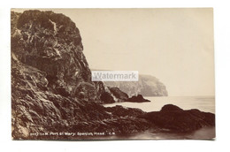 Port St Mary, Spanish Head - 1905 Used Isle Of Man Real Photo Postcard - Isola Di Man (dell'uomo)