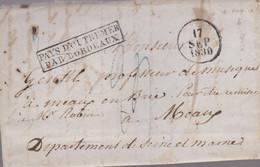 """LAC - """"PAYS D'OUTREMER/ PAR BORDEAUX """" + 17 SEP 1830 - 1801-1848: Vorläufer XIX"""