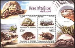 {BUR020} Burundi 2011 Turtles Sheet MNH** - 2010-..: Neufs