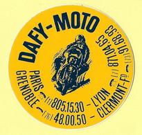 AUTOCOLLANT STICKER DAFY-MOTO - PARIS - LYON - GRENOBLE - CLERMONT-FERRAND - Stickers