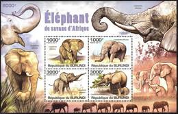 {BUR019} Burundi 2011 Elephants Sheet MNH** - 2010-..: Neufs