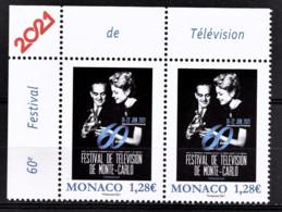 MONACO 2021 - PAIRE / 60E FESTIVAL DE TELEVISION - NEUFS ** - Neufs