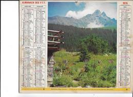ALMANACH  PTT  1976  -  LE  THEÂTRE  De  BORDEAUX    Et  MERIBEL  Les  ALLUES - Big : 1961-70