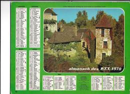ALMANACH  PTT  1978  -  HABITAT  QUERCYNOIS - Big : 1961-70
