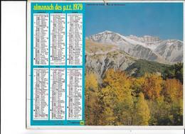 ALMANACH  PTT  1979  -  PREALPES  De  DIGNE - Big : 1961-70