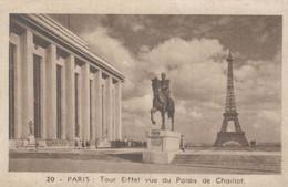 CHROMO LE CAFE ET LES PRODUITS DU BEFFROI DELORAINE BETHUNE-ARRAS  PARIS TOUR EIFFEL VUE DU PALAIS DE CHAILLOT - Thee & Koffie