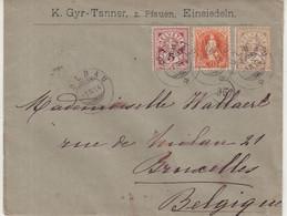 SUISSE : AFFRANCHISSEMENT A 27 Cts . POUR LA BELGIQUE . 1894 . - Briefe U. Dokumente