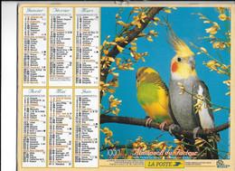 ALMANACH  PTT  1999  -  OISEAUX - Big : 1991-00