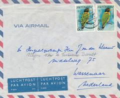 Suriname - 1978 - 2x 60 Cent Zwartkappapagaai  Op Cover Van KB Zorg En Hoop Naar Wassenaar / Nederland - Suriname