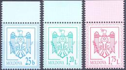 2021. Moldova, Definitives, COA, 3v, Mint/** - Moldavia