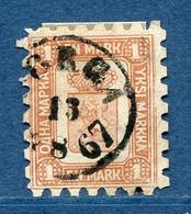 ⭐ Finlande - YT N° 10 - Oblitéré - Signé - 1866 / 1870 ⭐ - Usados