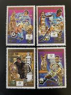 Madagascar Madagaskar 1989 / 1993 INVERTED Surchargé Overprint Mi. 1543 - 1546A Italia 1990 FIFA World Cup Football - Madagascar (1960-...)