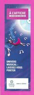 Marque Page.   A L'Affiche.   Espace Culturel Leclerc.     Bookmark. - Bookmarks