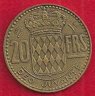 MONACO 20 FRANCS - 1951 - 1960-2001 New Francs
