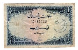 Pakistan P-9  1 Rupee 1959-1963 Pinhole Rare Vintage - Pakistan