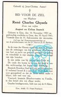 DP René Charles Ghysels / Snoeck ° Eine Oudenaarde 1901 † Gent 1941 - Andachtsbilder