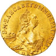 Monnaie, Russie, Elizabeth, Ducat, 1757, St. Petersburg, Rare, SUP, Or, KM:30.3 - Russia