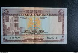 (M) 1975 HONG KONG OLD ISSUE THE CHARTERED BANK 5 DOLLARS #R923035 - Hong Kong