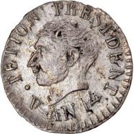 Monnaie, Haïti, Alexandre Petion, 12 Centimes, An 14 (1817), TTB+, Argent - Haiti