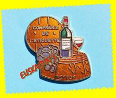 Pin's Confrérie De L'étiquette, MENTON, Vin, Boisson, Alcool - Beverages