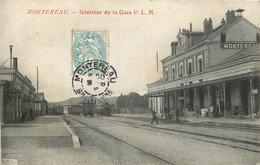 MONTEREAU INTERIEUR DE LA GARE P.L.M - Montereau