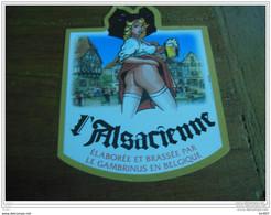 ETIQUETTE BIERE L'ALSACIENNE - Bier