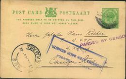1916, BRITISCHE BESETZUNG, Kriegsgefangenenkarte Ab LÜDERITZBUCHT Mit Zensur In Das Lager AUS. - Colonie: Afrique Sud-Occidentale