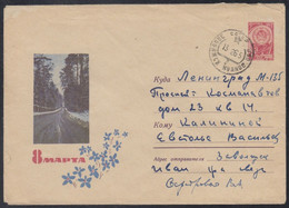 3539 RUSSIA 1965 ENTIER COVER Used MARCH 8 WOMAN DAY MOTHER Celebration NATURE NATUR FOREST BOIS USSR Mailed 11 - 1960-69