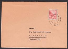 Eisenach 16.1.61, 20 Pf. Berlin Stalinallee Ganzsachenausschnitt Aus Faltbrief DDR F1, Auslands-Brief München - Umschläge - Gebraucht