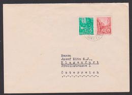 Frankfurt (Oder) 20 Pf. Berlin Stalinallee Ganzsachenausschniit Aus Faltbrief DDR, Auslands-Brief Klagenfurt Österreich - Umschläge - Gebraucht