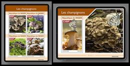 NIGER 2021 - Mushrooms, M/S + S/S Official Issue [NIG210103] - Mushrooms