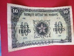 BILLET 10 FRANCS MAROC - Other - Europe