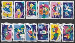 2020 FRANCE Adhesif 1930-41 Oblitérés, Voeux, Série Complète - KlebeBriefmarken