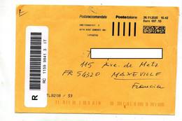 Lettre Recommandee Machine Sorrento Index Noire Rouge - Marcofilia - EMA ( Maquina De Huellas A Franquear)