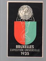 Calendrier 1935 BRUXELLES (Belgique) Exposition Universelle  (PPP28136) - Small : 1921-40