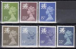 GROSSBRITANNIEN  WALES 28-34, Postfrisch **, Freimarken, 1980/81 - Wales